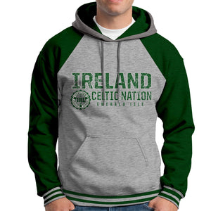 IRELAND CELTIC NATIONS Men Hoodies Cara Craft XS BOTTLE GREEN