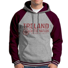 Load image into Gallery viewer, IRELAND CELTIC NATIONS Men Hoodies Cara Craft XS BURGUNDY