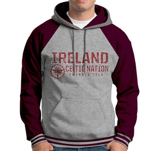IRELAND CELTIC NATIONS Men Hoodies Cara Craft XS BURGUNDY
