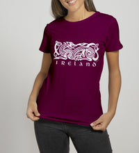 Load image into Gallery viewer, CELTIC DOG V2 Ladies T-Shirts Cara Craft S BURGUNDY