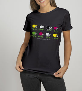 UNITED COLOURS OF IRELAND Ladies T-Shirts Cara Craft S BLACK