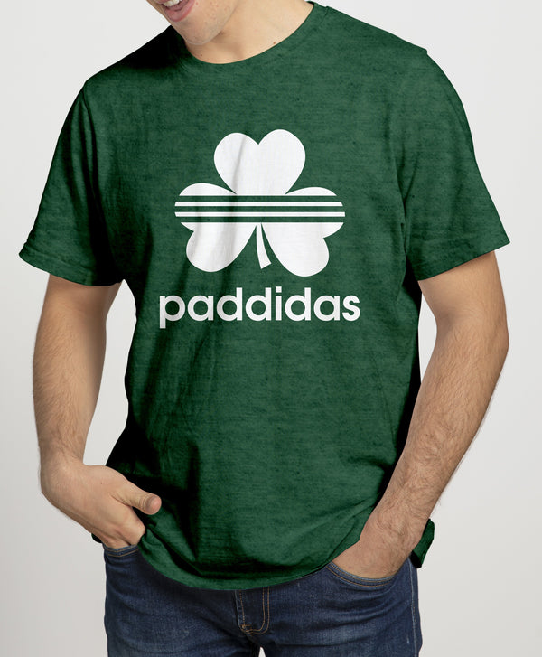 PADDIDAS Mens T-Shirts Cara Craft S BOTTLE GREEN