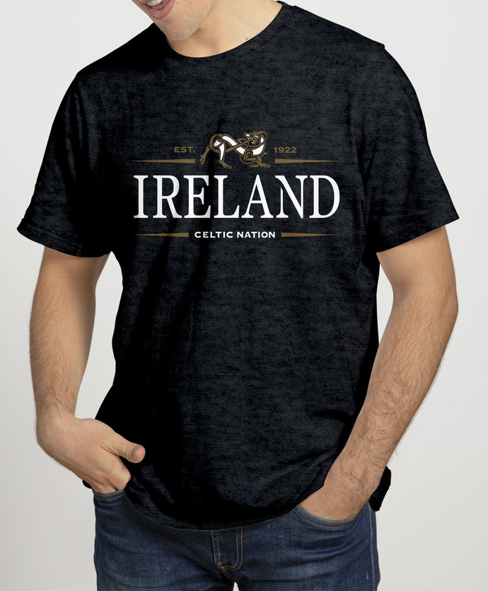 IRELAND CELTIC NATION V2 Mens T-Shirts Cara Craft S BLACK