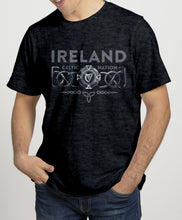 Load image into Gallery viewer, IRELAND 3D CELTIC PROVINCES Mens T-Shirts Cara Craft S BLACK