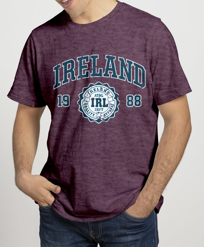 IRELAND APPAREL 88 (2) Mens T-Shirts Cara Craft S Burgundy