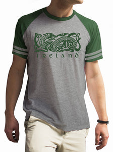 IRELAND CELTIC DOG V2 Mens T-Shirts Cara Craft S BOTTLE GREEN