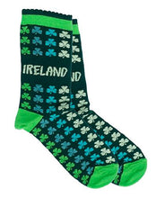 Load image into Gallery viewer, MULTI SHAMROCK Socks Cara Craft GREEN