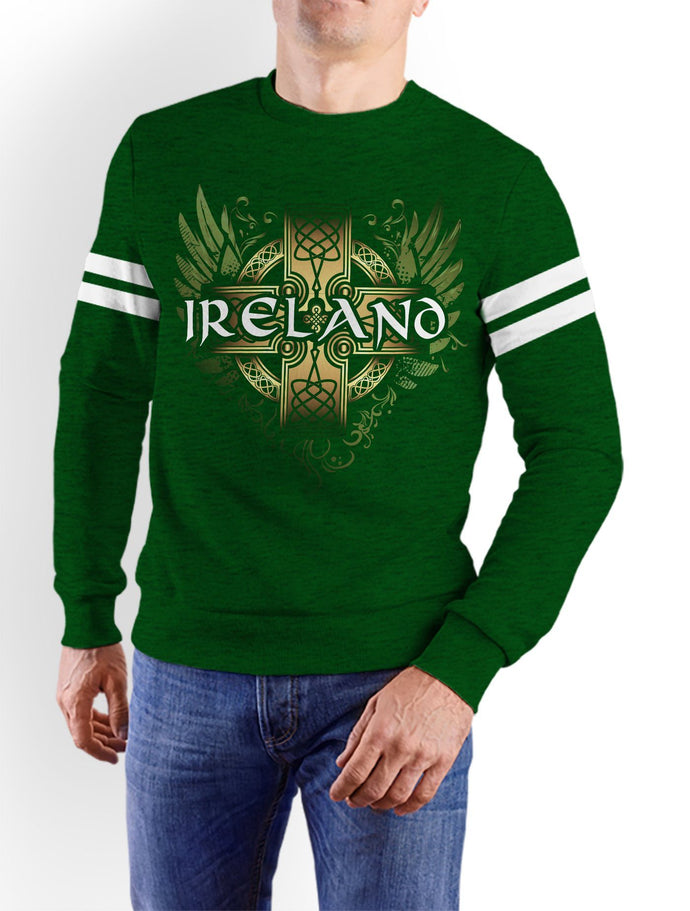 IRELAND CELTIC WINGS Men Sweat Shirts Cara Craft XS Bottle Green