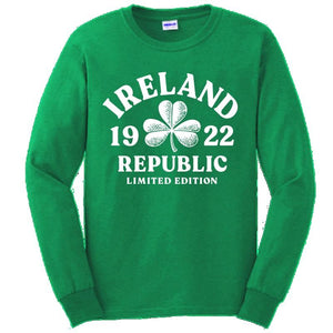 IRELAND DISTRESSED SHAMROCK Mens T-Shirts Cara Craft