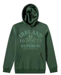 EMBOSSED SHAMROCK Children Classic Hoodie Cara Craft