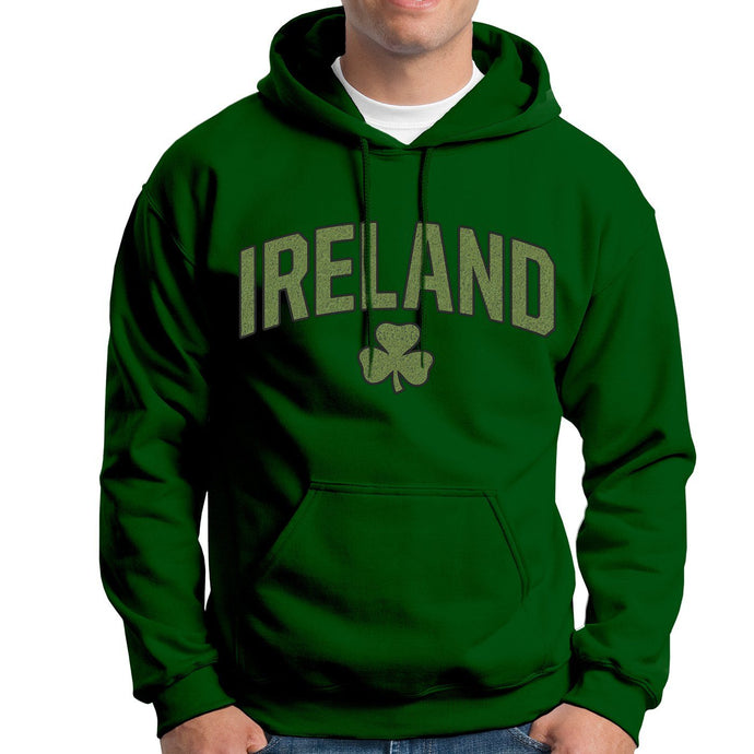IRELAND SHAMROCK CHENILLE Men Hoodies Cara Craft XS BOTTLE GREEN