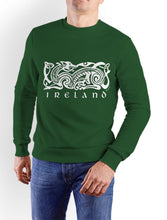 Load image into Gallery viewer, CELTIC DOG V2 Men Sweat Shirts Cara Craft XS BOTTLE GREEN