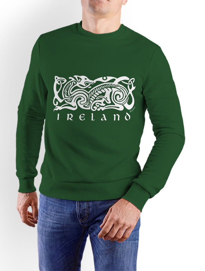 CELTIC DOG V2 Men Sweat Shirts Cara Craft XS BOTTLE GREEN