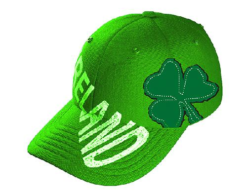 IRELAND TEXT SHIELD CAPS/HATS Cara Craft KELLY GREEN