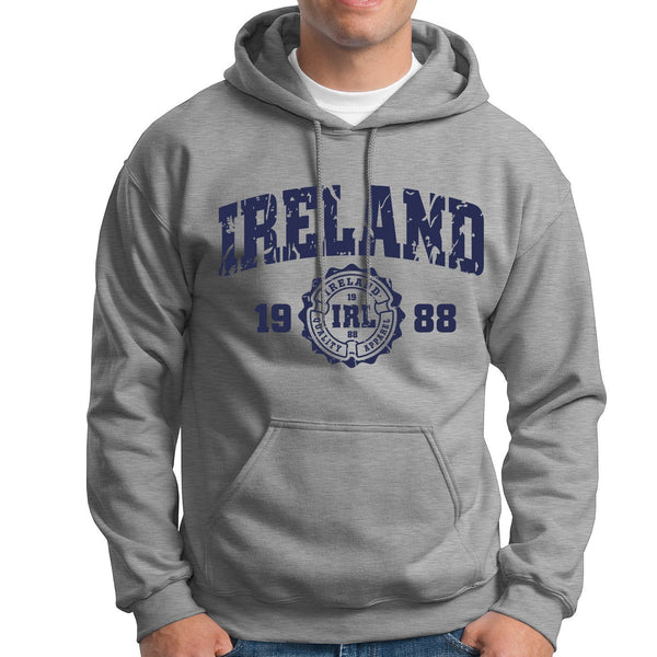 IRELAND APPAREL 88 Men Hoodies Cara Craft S GREY