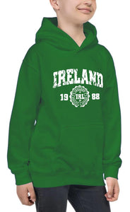 IRELAND APPAREL 88 Children Classic Hoodie Cara Craft 12 Green