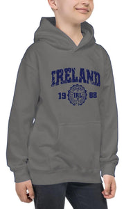 IRELAND APPAREL 88 Children Classic Hoodie Cara Craft 12 Grey