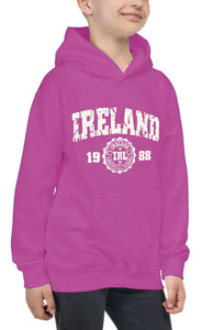 IRELAND APPAREL 88 Children Classic Hoodie Cara Craft 12 Pink