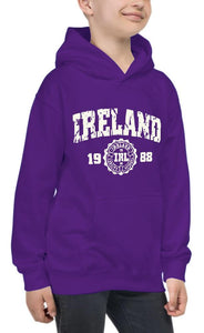 IRELAND APPAREL 88 Children Classic Hoodie Cara Craft 5-6 PURPLE