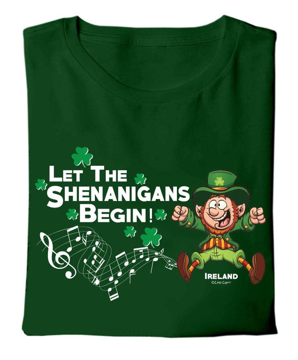 LET THE SHENANIGANS BEGIN Children Classic T-Shirt Cara Craft
