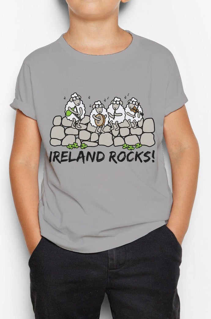 IRELAND ROCKS GROUP Children Classic T-Shirt Cara Craft 2-3 GREY
