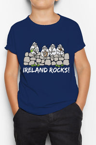 IRELAND ROCKS GROUP Children Classic T-Shirt Cara Craft 12 Navy