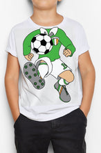 Load image into Gallery viewer, FOOTBALL BODY Children Classic T-Shirt Cara Craft 3-4 White