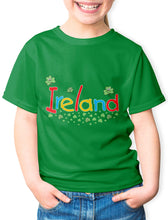 Load image into Gallery viewer, SMILING SHAMROCKS Children Classic T-Shirt Cara Craft 12 GREEN