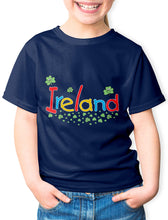 Load image into Gallery viewer, SMILING SHAMROCKS Children Classic T-Shirt Cara Craft 12 Navy