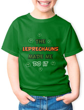 Load image into Gallery viewer, LEPRECHAUNS MADE ME V2 Children Classic T-Shirt Cara Craft Green 2-3