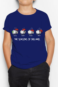 FOUR SEASONS LINE Children Classic T-Shirt Cara Craft 12 Navy