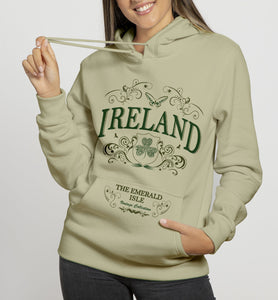 IRELAND ORNATE BUTTERFLY LADIES HOODIES Cara Craft S STONE