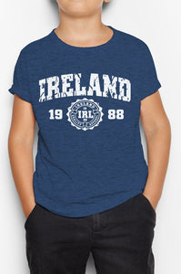 IRELAND APPAREL 88 Children Classic T-Shirt Cara Craft NAVY 3-4