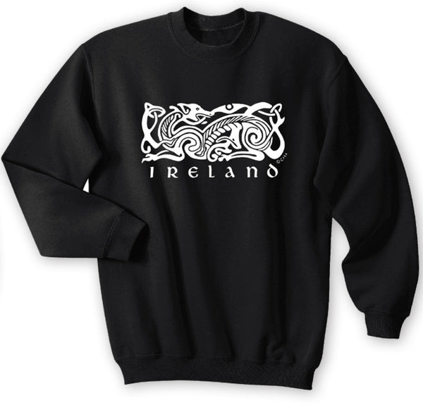 IRELAND CELTIC DOG V2, Men Sweat Shirts - seasonsofireland