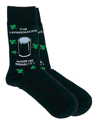 LEPRECHAUNS MADE ME DRINK IT Socks Cara Craft
