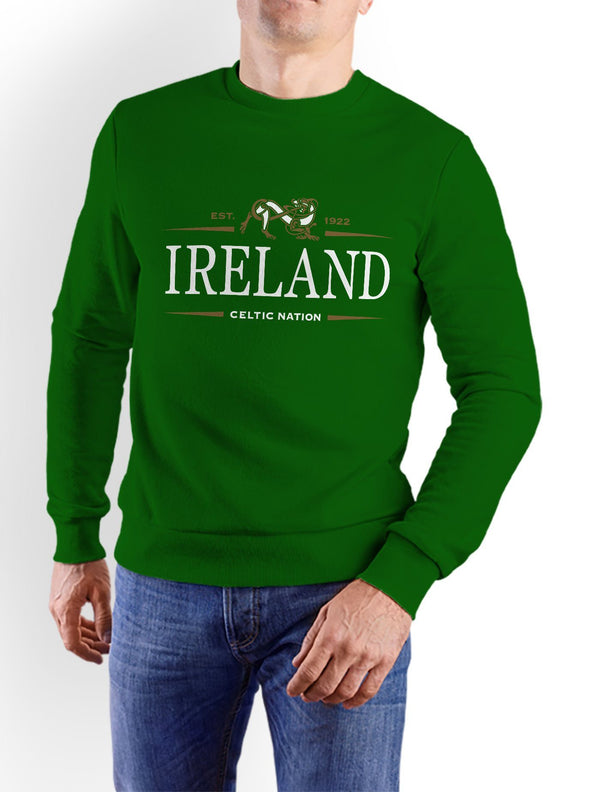 IRELAND CELTIC NATION V2 Men Sweat Shirts Cara Craft S BOTTLE GREEN