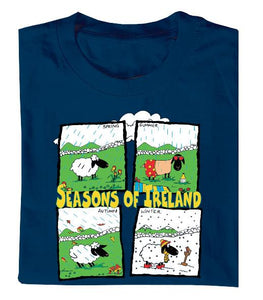 SEASONS OF IRELAND Mens T-Shirts Cara Craft