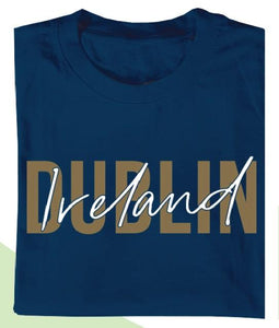 DUBLIN GOLD SIGNATURE Mens T-Shirts Cara Craft