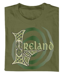 IRELAND MONO SPIRAL Mens T-Shirts Cara Craft