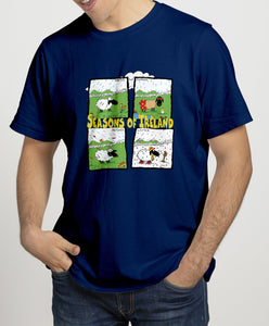 SEASONS OF IRELAND Mens T-Shirts Cara Craft S NAVY