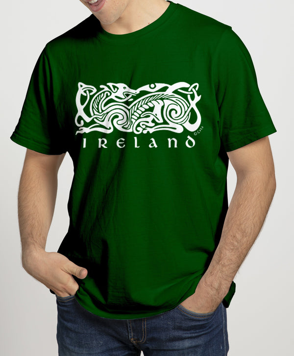 CELTIC DOG V2, Mens T-Shirts - seasonsofireland
