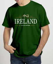 Load image into Gallery viewer, IRELAND CELTIC NATION V2 Mens T-Shirts Cara Craft S BOTTLE GREEN