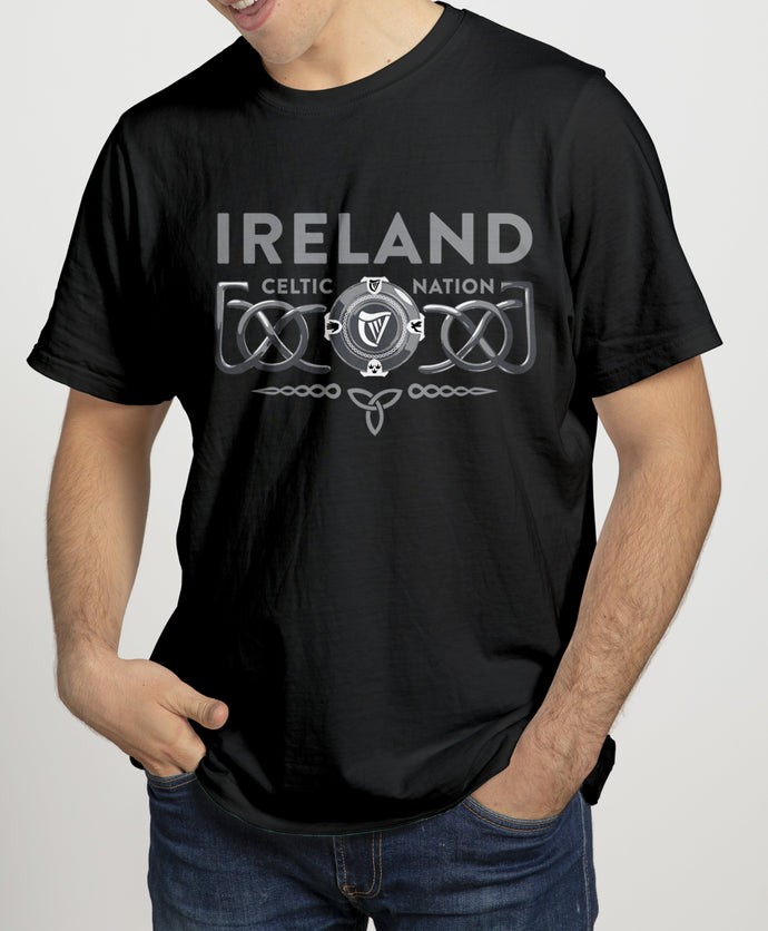 3D CELTIC PROVINCES Mens T-Shirts Cara Craft S BLACK