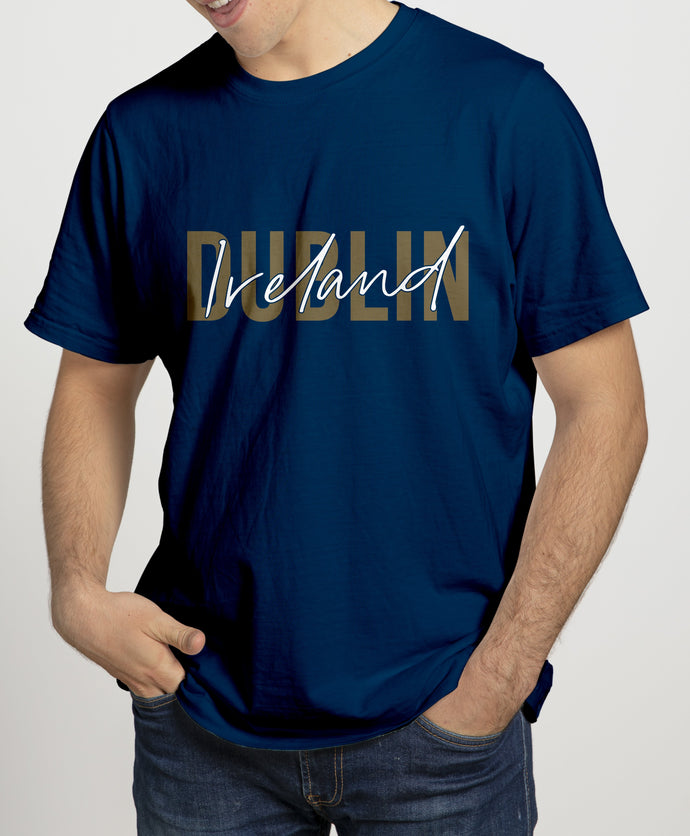 DUBLIN GOLD SIGNATURE Mens T-Shirts Cara Craft S NAVY
