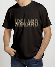 Load image into Gallery viewer, IRELAND GOLD SIGNATURE Mens T-Shirts Cara Craft S BLACK