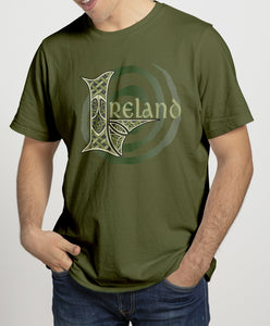 IRELAND MONO SPIRAL Mens T-Shirts Cara Craft S OLIVE