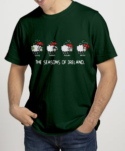 SEASONS OF IRELAND LINE Mens T-Shirts Cara Craft S BOTTLE GREEN
