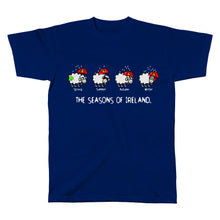 Load image into Gallery viewer, SEASONS OF IRELAND LINE Mens T-Shirts Cara Craft S NAVY