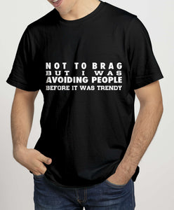 NOT TO BRAG Mens T-Shirts Cara Craft S BLACK