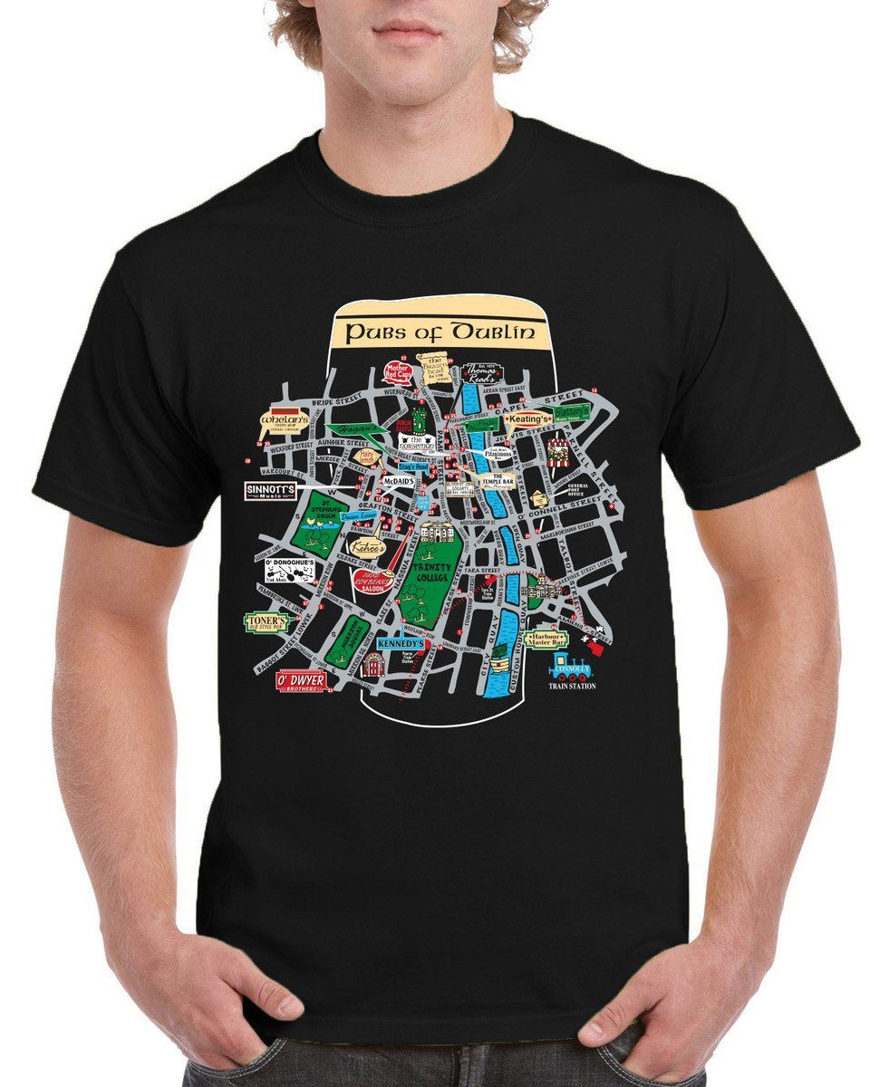 PUBS OF DUBLIN, Mens T-Shirts - seasonsofireland